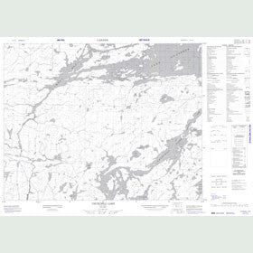 Canadian Topo Map - Churchill Lake - Map 052J14