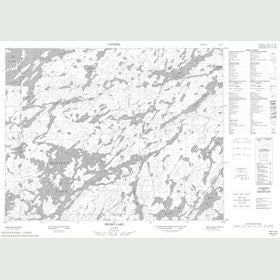 Canadian Topo Map - Miniss Lake - Map 052J15