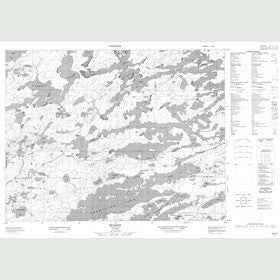 Canadian Topo Map - Hudson - Map 052K01