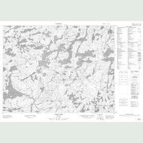 Canadian Topo Map - Cliff Lake - Map 052K03