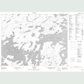 Canadian Topo Map - Lac Seul - Map 052K08