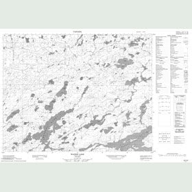 Canadian Topo Map - Wapesi Lake - Map 052K09