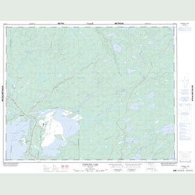 Canadian Topo Map - Pakwash Lake - Map 052K14