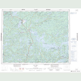 Canadian Topo Map - Lac Seul - Map 052K