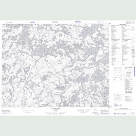Canadian Topo Map - Lount Lake - Map 052L01