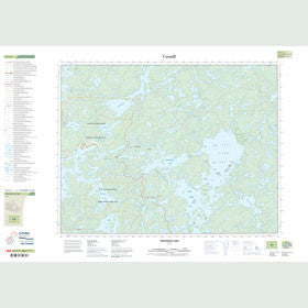 Canadian Topo Map - Whitedog Lake - Map 052L02