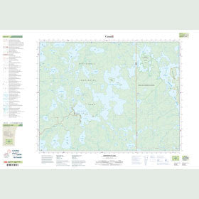 Canadian Topo Map - Crowduck Lake - Map 052L03