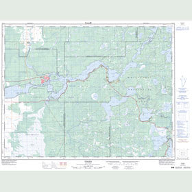 Canadian Topo Map - Pinawa - Map 052L04