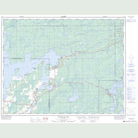Canadian Topo Map - Pointe du Bois - Map 052L05