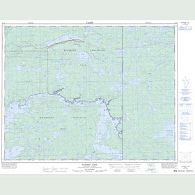Canadian Topo Map - Ryerson Lake - Map 052L06