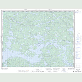 Canadian Topo Map - Umfreville Lake - Map 052L07