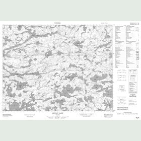 Canadian Topo Map - Lennan Lake - Map 052L08
