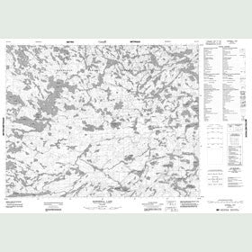 Canadian Topo Map - Dowswell Lake - Map 052L10