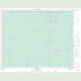 Canadian Topo Map - Maskwa Lake - Map 052L12