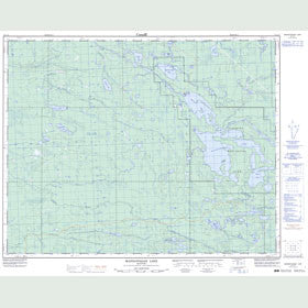 Canadian Topo Map - Manigotagan Lake - Map 052L13