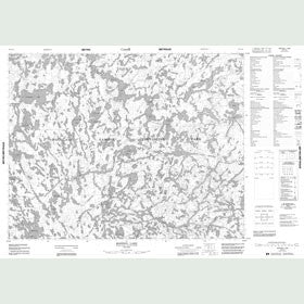 Canadian Topo Map - Rostoul Lake - Map 052L15