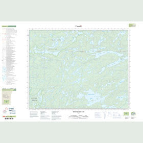 Canadian Topo Map - Medicine Stone Lake - Map 052L16