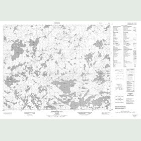 Canadian Topo Map - Pipestone Bay - Map 052M01