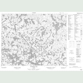 Canadian Topo Map - Murdock Lake - Map 052M02