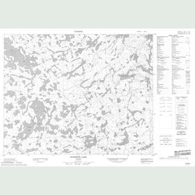 Canadian Topo Map - Roderick Lake - Map 052M09