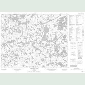 Canadian Topo Map - Spoonbill Lake - Map 052M10