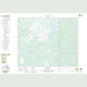 Canadian Topo Map - Dogskin Lake - Map 052M11