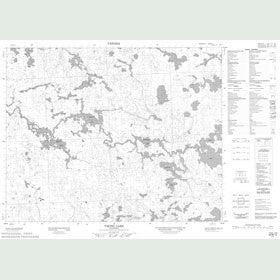 Canadian Topo Map - Viking Lake - Map 052M13
