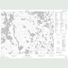 Canadian Topo Map - Family Lake - Map 052M14