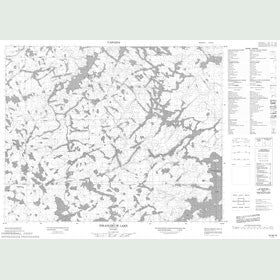 Canadian Topo Map - Pikangikum Lake - Map 052M16