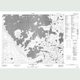 Canadian Topo Map - Little Trout Lake - Map 052N03