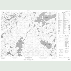 Canadian Topo Map - Nungesser River - Map 052N05