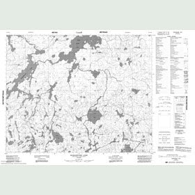 Canadian Topo Map - Mamakwash Lake - Map 052N10