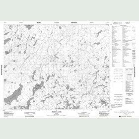 Canadian Topo Map - Pringle Lake - Map 052N11