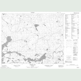 Canadian Topo Map - Berens Lake - Map 052N13