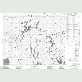 Canadian Topo Map - Madden Lake - Map 052N15