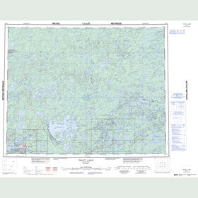 Canadian Topo Map - Trout Lake - Map 052N
