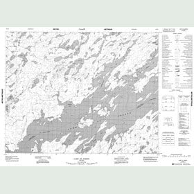 Canadian Topo Map - Matapesatakun Bay - Map 052O02