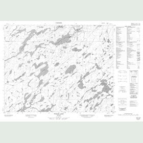Canadian Topo Map - Pickle Lake - Map 052O08