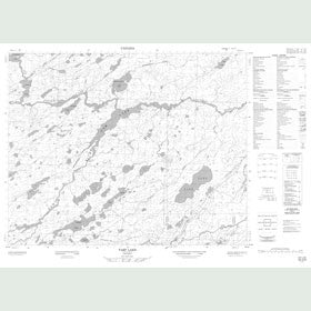 Canadian Topo Map - Tarp Lake - Map 052O09