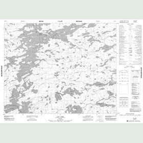 Canadian Topo Map - Cat Lake - Map 052O12