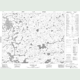 Canadian Topo Map - Whitestone Lake - Map 052O13