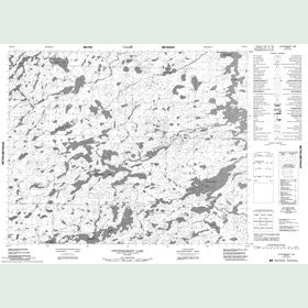 Canadian Topo Map - Upturnedroot Lake - Map 052O14