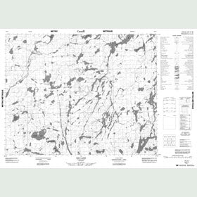 Canadian Topo Map - Sim Lake - Map 052P01