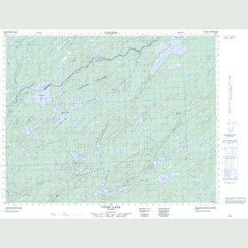 Canadian Topo Map - Coles Lake - Map 052P04