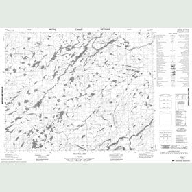 Canadian Topo Map - Seach Lake - Map 052P05