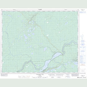 Canadian Topo Map - Lysander Lake - Map 052P13
