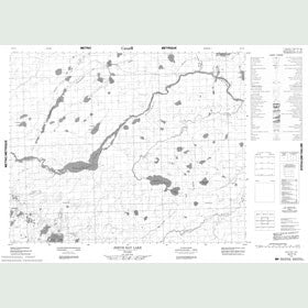 Canadian Topo Map - Jervis Bay Lake - Map 052P14