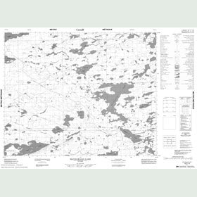 Canadian Topo Map - Machawaian Lake - Map 052P16