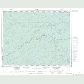 Canadian Topo Map - Miminiska Lake - Map 052P