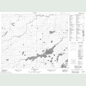 Canadian Topo Map - Totogan Lake - Map 053A03